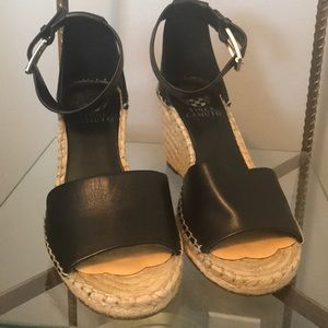 Vince Camuto wedge open toe shoe